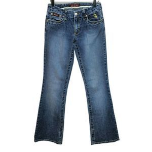 Baby Phat 5 Dark Wash Boot Cut Jeans Flare